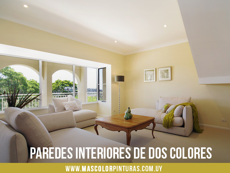 C mo pintar paredes interiores de dos colores y no morir for Colores para paredes de interior